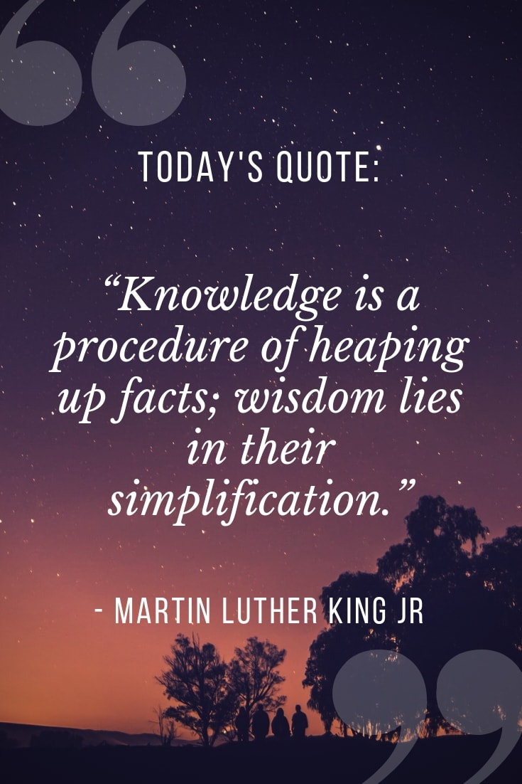 Knowledge is a procedure quotes on education by MLK