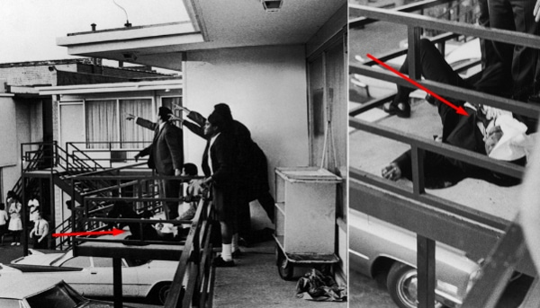 MLK shot dead photos