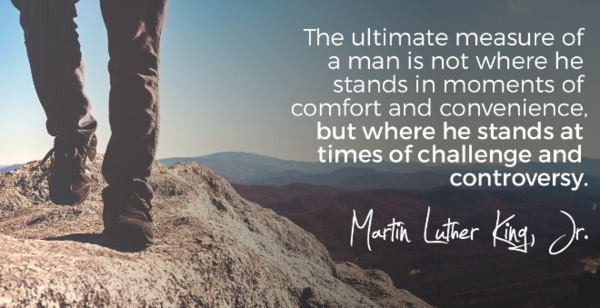 The ultimate measure of a man quote on Leadership