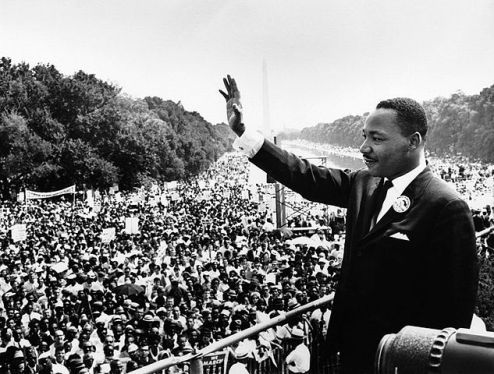 History today August 28, 1963 Dr. Martin Luther King Jr. at the Civil Rights Mar...
