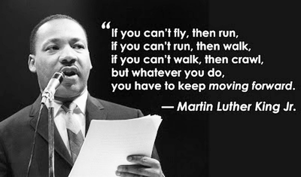 read if you cant fly inspirational quotes by Martin luther King Jr