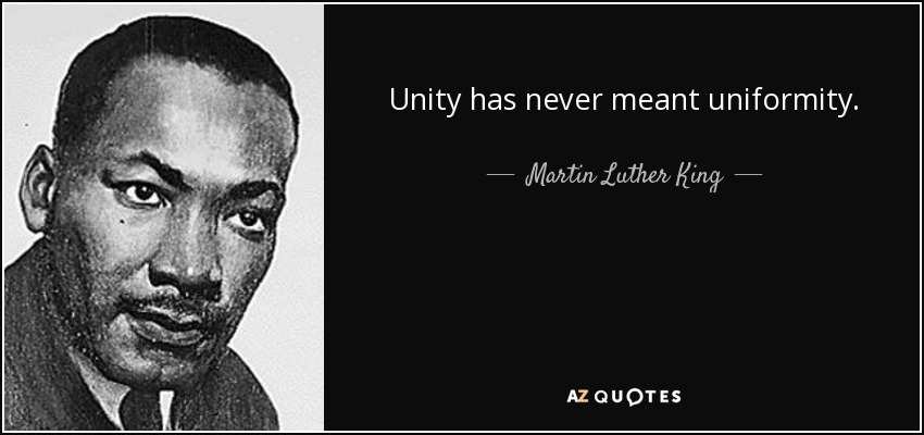 Martin Luther King Jr Quotes on unity